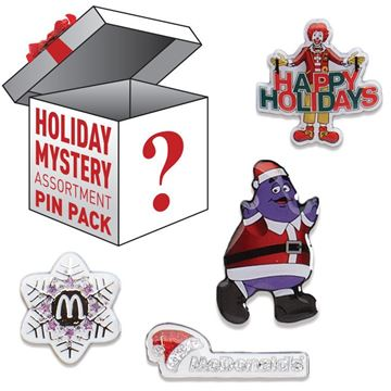 Picture of Holiday Assorted Lapel Pins - 10 per Pack