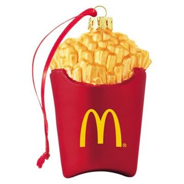 Picture of French Fry Box Blown Glass Ornament