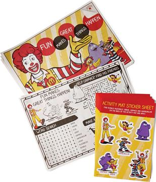 Picture of Ronald Activity Mats - 50 per Case