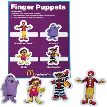 Picture of Ronald Finger Puppets - 100 per Case