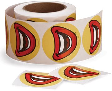 Picture of Ronald Smile Stickers - 500 per Roll