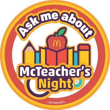 Picture of McTeacher's Night Ask Me Stickers - 100 per Roll