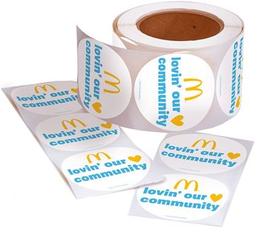 Picture of Lovin' Our Community Stickers - 100 per Roll