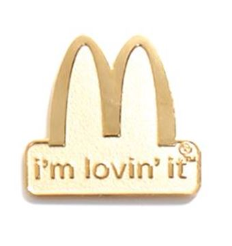Picture of I'm Lovin' It Arches Lapel Pin
