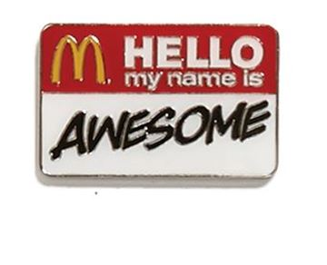 Picture of Hello My Name Is Lapel Pin