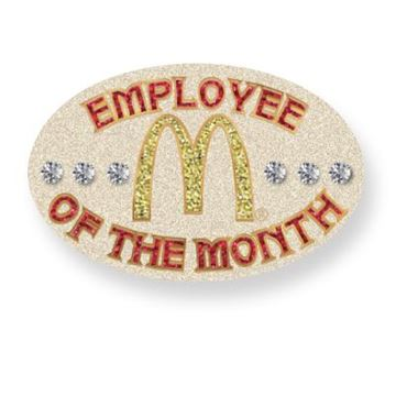 Picture of Employee of the Month Stone Lapel Pin