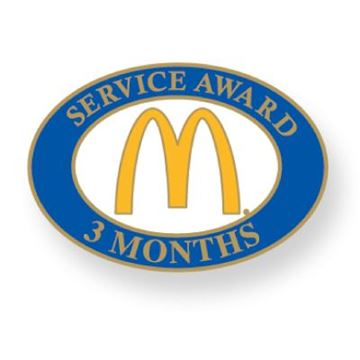 Picture of Three Month Service Lapel Pin