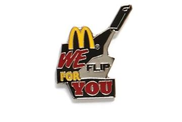 Picture of We Flip for You Lapel Pin