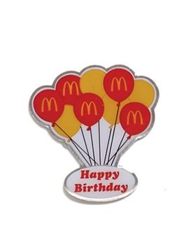 Picture of Happy Birthday Balloons Lapel Pin
