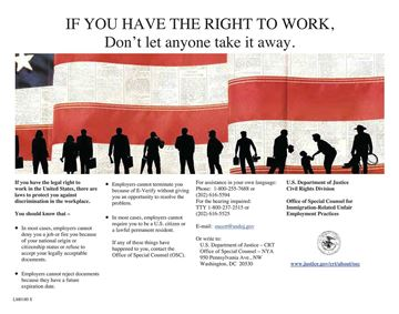 Picture of Right to Work English Poster