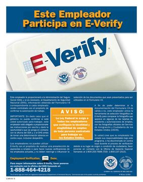 Picture of E-Verify Spanish Poster