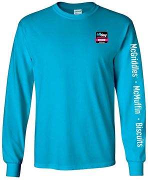 Picture of All Day Breakfast 2.0 Turquoise Hooray Long-Sleeve Shirt