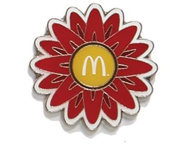 Picture of Red Flower Lapel Pin