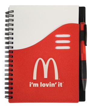 Picture of Red Notebook with Pen