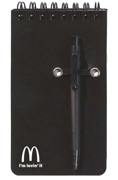 Picture of Black Mini Jotter with Pen