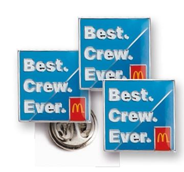 Picture of Best Crew Ever Lapel Pins - 50 per Pack
