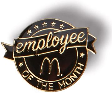 Picture of Employee of the Month Black Lapel Pin