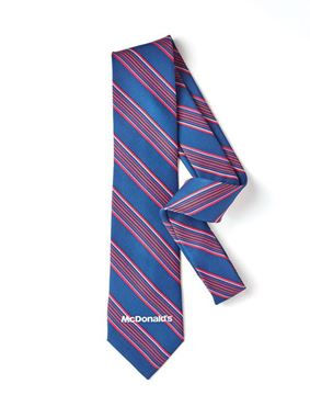 Picture of Men's Blue and Pink Striped Tie