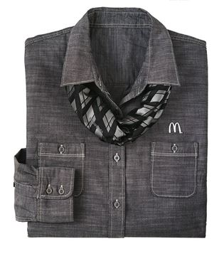 Picture of Ladies' Grey Plaid Tie