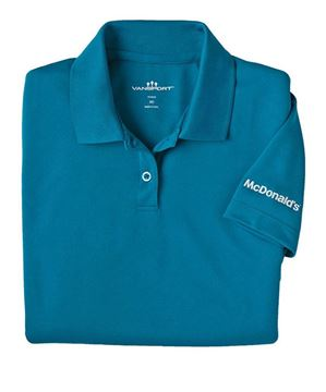 Picture of Ladies' Teal Mesh Tech Polo