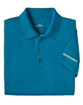 Picture of Men's Teal Mesh Tech Polo