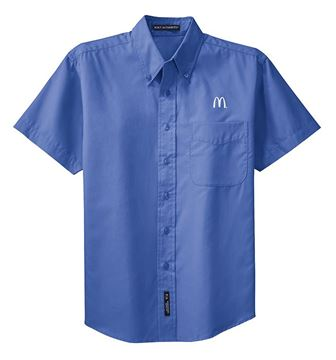 Picture of Men's Ultramarine Short-Sleeve Event Button Down