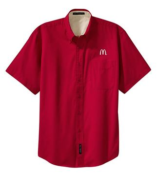 Picture of Men's Red Short-Sleeve Event Button Down