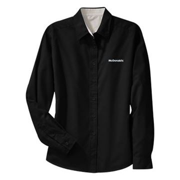 Picture of Ladies' Black Long-Sleeve Event Button Down
