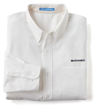 Picture of Men's White Long-Sleeve Event Button Down