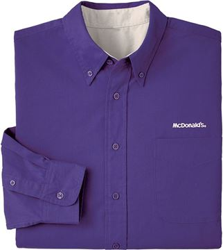 Picture of Men's Purple Long-Sleeve Event Button Down