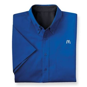 Picture of Men's Royal Short-Sleeve Event Button Down