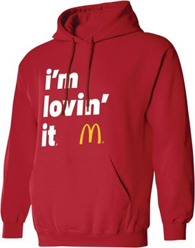 Picture of Red I'm Lovin' It Hooded Sweatshirt