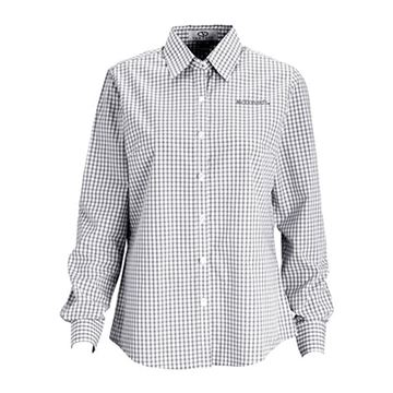 Picture of Ladies' Grey/White Gingham Long-Sleeve Shirt