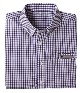 Picture of Men's Purple/White Gingham Long-Sleeve Shirt