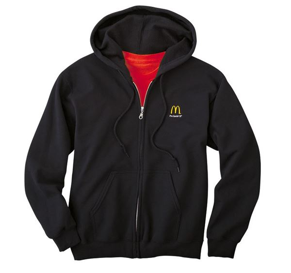 Picture of Black Full-Zip Hooded Sweatshirt