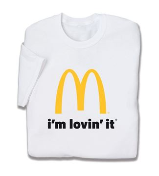 Picture of White I'm Lovin' It T-Shirt