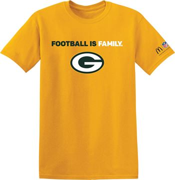 Picture of Green Bay Packers Football is Family T-Shirt