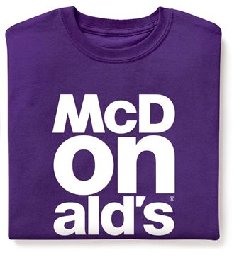 Picture of Purple McDonald's Event T-Shirt