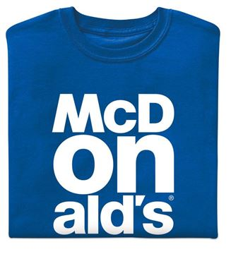 Picture of Royal Blue McDonald's Event T-Shirt