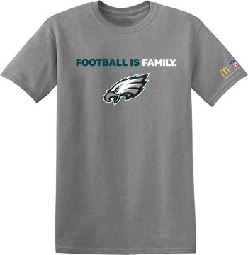 Picture of Philadelphia Eagles Grey Football is Family T-Shirt