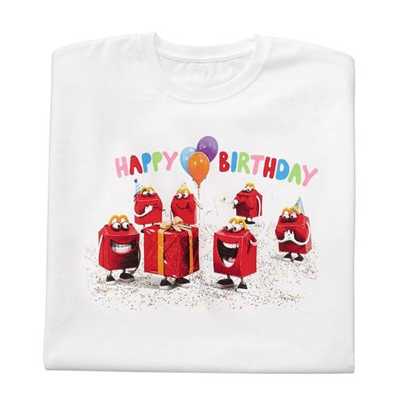 Picture Of Youth White Happy Birthday T Shirt