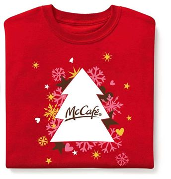 Picture of McCafe Red Holiday T-Shirt