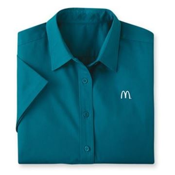 Picture of Ladies' Teal Short-Sleeve Event Button Down