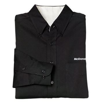 Picture of Men's Black Long-Sleeve Event Button Down