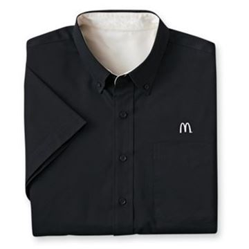 Picture of Men's Black Short-Sleeve Event Button Down
