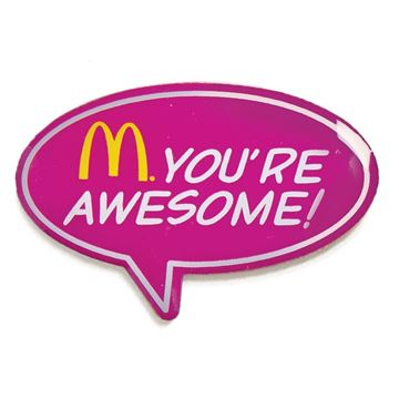 Picture of You're Awesome Lapel Pin