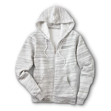 Picture of Grey Marled Full-Zip Hoodie
