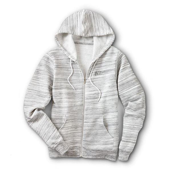 Picture of Grey Marled Full-Zip Hoodie