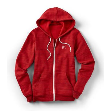 Picture of Red Marled Full-Zip Hoodie