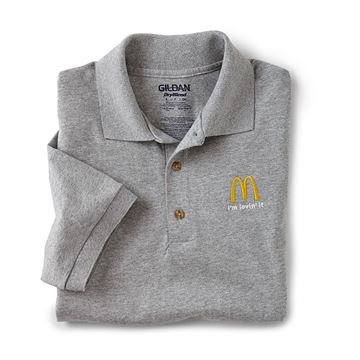 Picture of Heather Grey I'm Lovin' It Polo